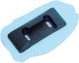 Sluitplaatje-(ZWART)-voor-meubelgreep-Combi-Line